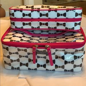 2 pc. Kate Spade extra large cosmetic cases NWOT